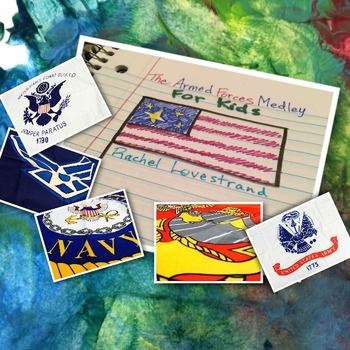 The Armed Forces Medley for Kids Video featuring the flags of the Armed Forces!