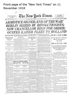 The Armistice of 11 November 1918 Word Search