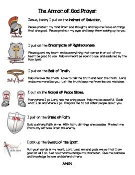 graphic regarding Armor of God Printable Activities named The Armor Of God Worksheets Coaching Elements TpT