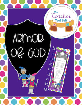photograph relating to Free Printable Pictures of the Armor of God named The Armor of God for Children Bookmarks