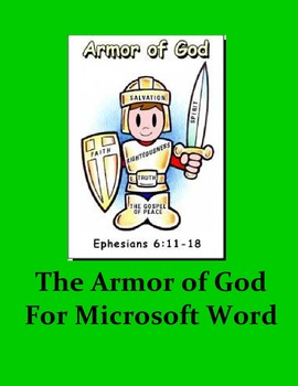The Armor of God for Microsoft Word - Ephesians 6