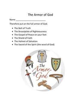 The Armor of God for Microsoft Word - Ephesians 6
