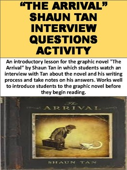 """The Arrival"" Shaun Tan Interview Questions Activity"