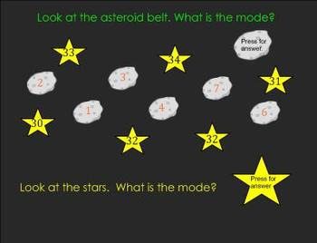 The Arriving Aliens: Mode, Median, and Outlier SMARTboard Lesson