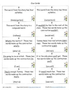 The Art Lesson Bingo Game ~ Language Arts Activity