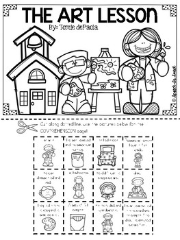The Art Lesson Literature Lap Book by Speech Is Sweet | TpT