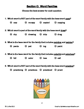 The Art Lesson ~ Tomie dePaola ~ Weekly Theme Skills Test