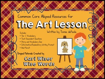 The Art Lesson by Tomie dePaola - Lesson Resources