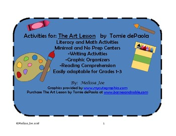 The Art Lesson by Tomie dePaola Literacy, Writing, Compreh