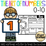 The Art Of Numbers {Number Practice Pages 0-10}