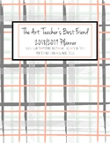 The Art Teacher's Best Friend 2018-2019 Planner (GRAY PEACH PLAID)