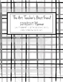 The Art Teacher's Best Friend 2018-2019 Planner (GRAY PLAID)