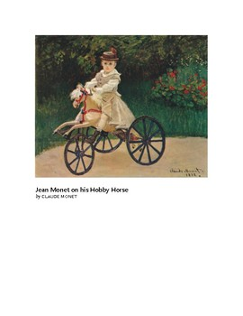 Monet Jean Monet on his Hobby Horse Impressionism