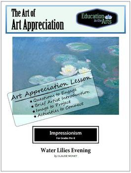 Monet Water Lilies Evening Impressionism