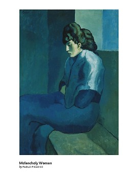 Picasso Melancholy Woman Expressionism