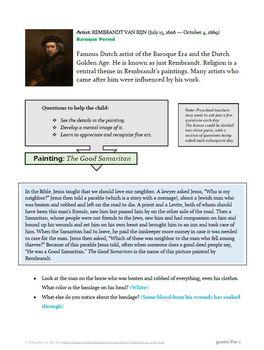 The Art of Art Appreciation - Rembrandt The Good Samaritan