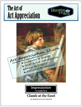 Renoir Claude at His Easel Impressionism