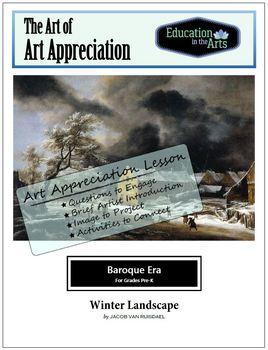 Ruisdael-Winter Landscape-Baroque Era