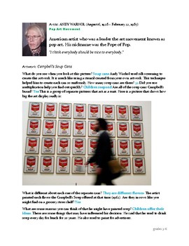 The Art of Art Appreciation - Warhol Campbell's Soup Cans