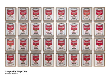 Warhol Campbell's Soup Cans Pop Art