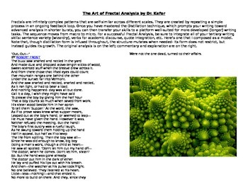 """The Art of Fractal Analysis: Analytical Writing for the """"W"""