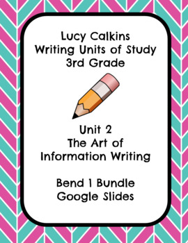 Lucy Calkins The Art of Information Writing 3rd Grade Bend 1 Slides