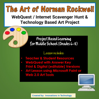 The Art of Norman Rockwell – WebQuest / Internet Scavenger Hunt & Art Project