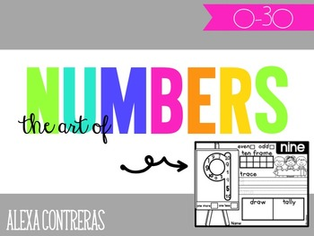 The Art of Numbers {Number Practice Pages 0-30} BUNDLE