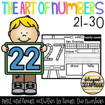 The Art of Numbers {Number Practice Pages 21-30}
