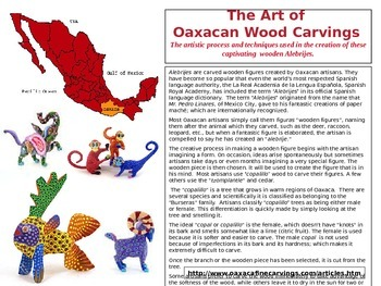 The Art of Oaxacan Wood Carvings: Informational Student Worksheet