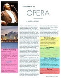 The Magic of Opera - Reading w/ Q's for High School or ESL students