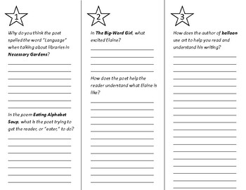 The Art of Poetry Trifold - Into Reading 4th Grade Module 5 Week 3