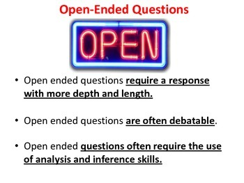 The Art of Questioning (Power Point) Teaching Open and Closed Questioning