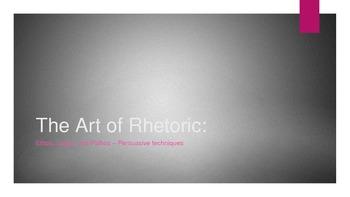 The Art of Rhetoric - Ethos, Logos, and Pathos