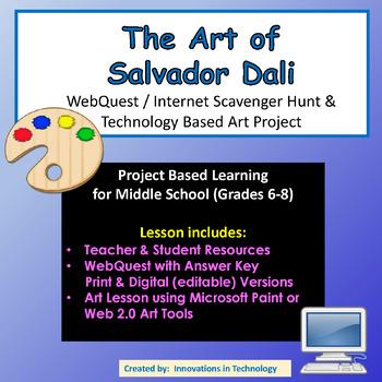 The Art of Salvador Dali - WebQuest & Technology Art Project