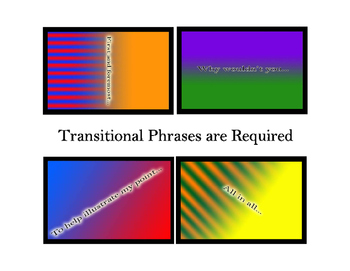 The Art of Transitional Writing