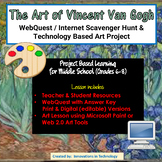 The Art of Vincent van Gogh - WebQuest / Internet Scavenger Hunt & Art Project