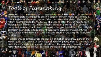 The Art of how a movie is made.