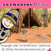 Arthropod Phylum Science Passages and Comprehension Questions