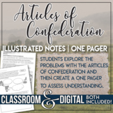 The Articles of Confederation Doodle Notes Students Use Emojis for Explanation
