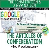 The Articles of Confederation; Distance Learning; Digital