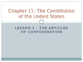 Constitution of the United States - The Articles of Confederation PowerPoint