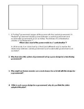 The Articles of Confederation: The Structure, Content, and Weaknesses