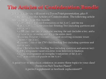 The Articles of Confederation Unit Bundle
