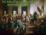 The Articles of Confederation and Constitution (U.S. History) BUNDLE w/video
