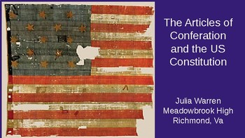 The Articles of Confederation and the US Constitution