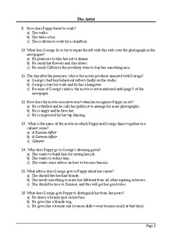 The Artist Film (2011) - 50 Question Multiple Choice Quiz