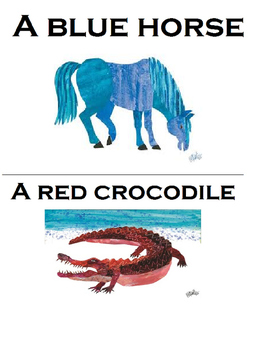The Artist Who Painted A Blue Horse Adapted Book, (retell) Eric Carle