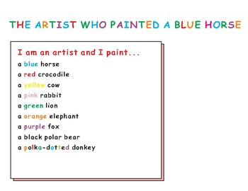 The Artist Who Painted a Blue Horse Eric Carle Cut-Out Fold-Up Book