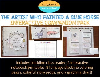 The Artist Who Painted a Blue Horse Interactive Companion Pack